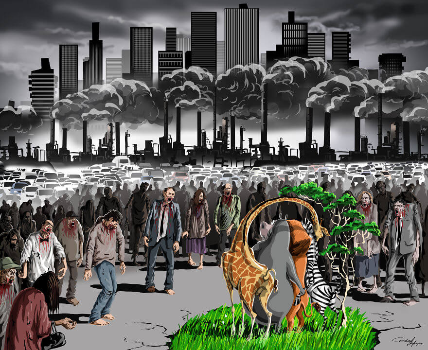 13 Powerful Illustrations Reveal Everything That Is Wrong With The World Today - The Last Oasis