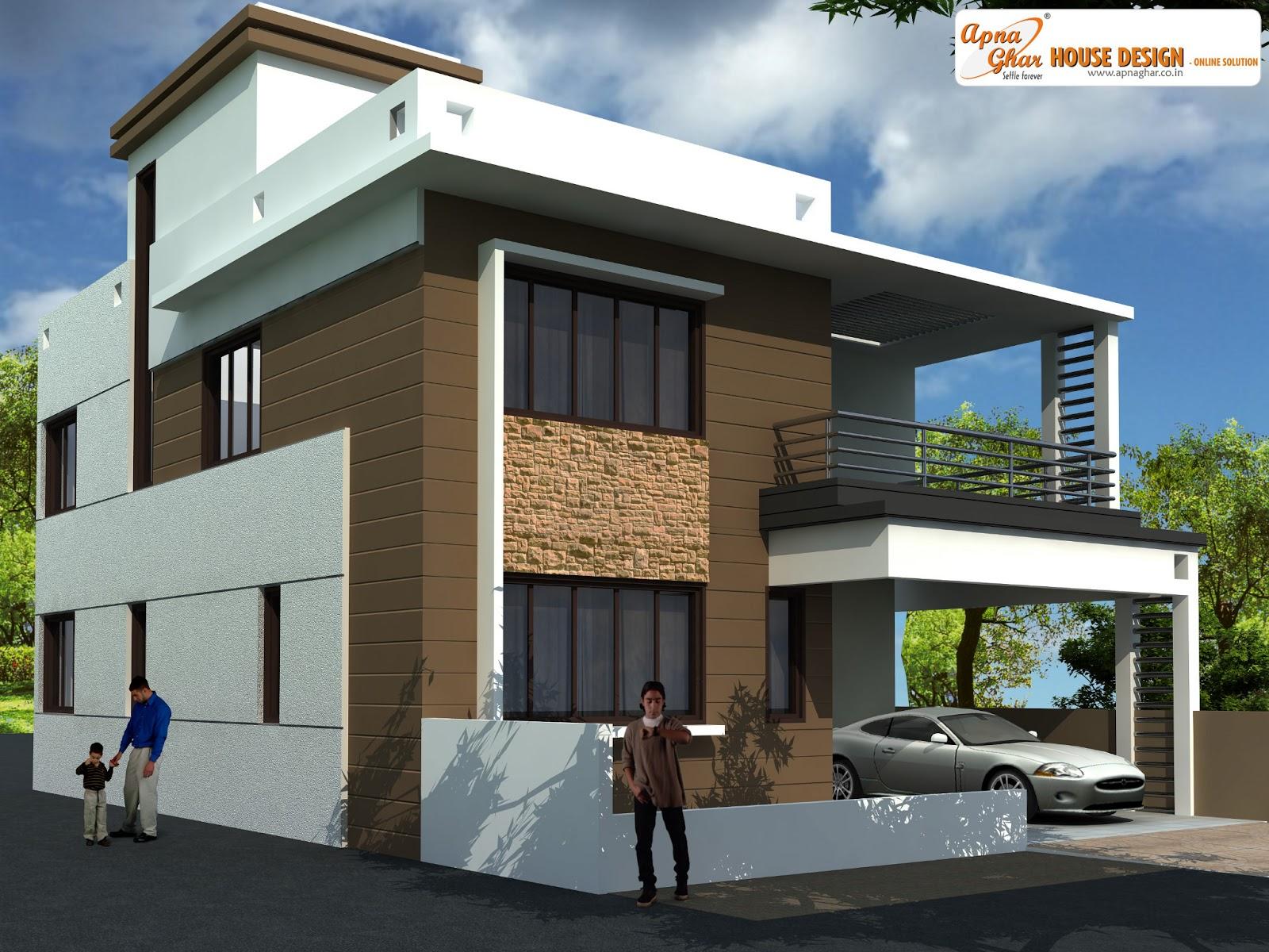 3 Bedrooms Duplex House Design In 135m2 9m X 15m Apnaghar