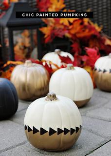 20 Idee Per Decorare Le Zucche Di Halloween Fai-da-te: elegante