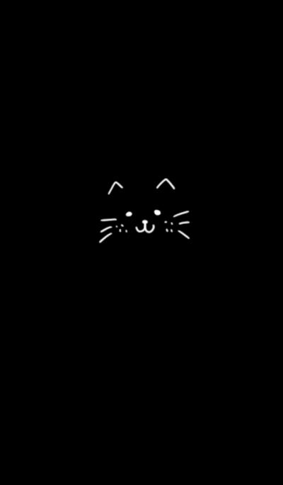 Cat's face cute.