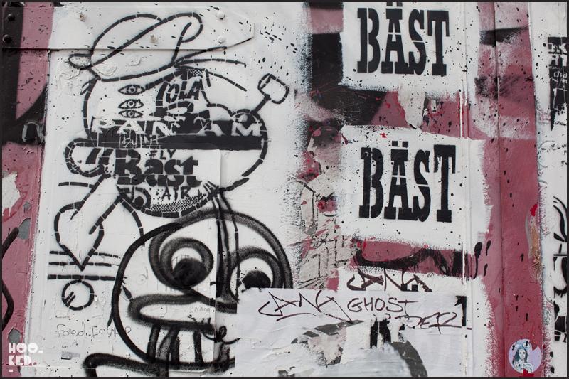 New York Street Art with artist BAST