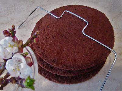 Kako rezati biskvit  pilicom / How to cut a sponge cake