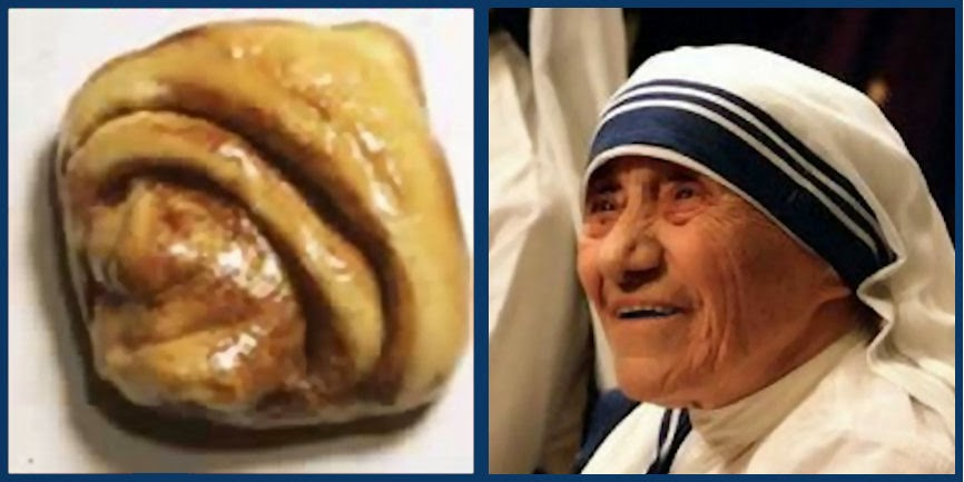 Funny Religious Miracle Mother Theresa Nun Bun Joke Picture
