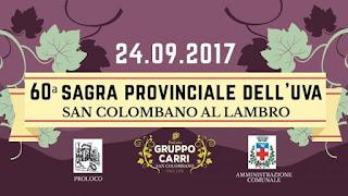 Sagra dell'uva 24 settembre San Colombano (MI)