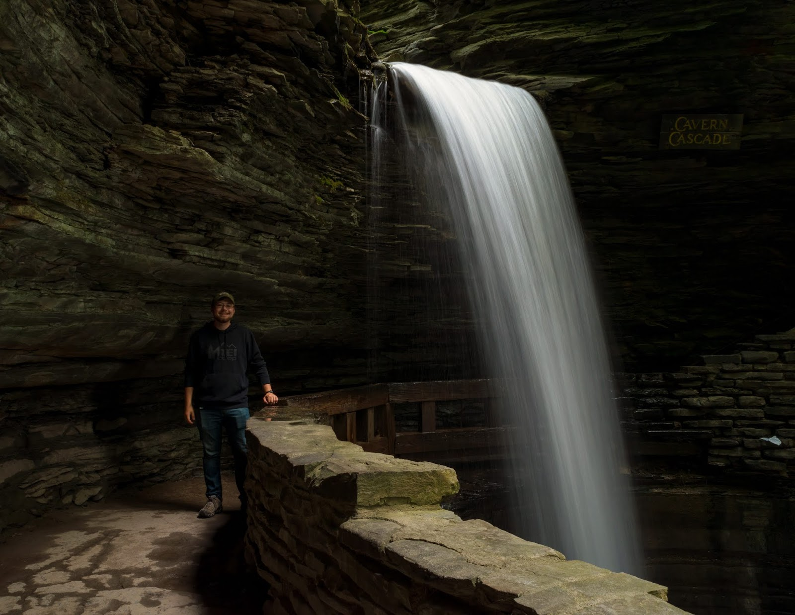Watkins Glen State Park Walk Behind Cavern Cascade