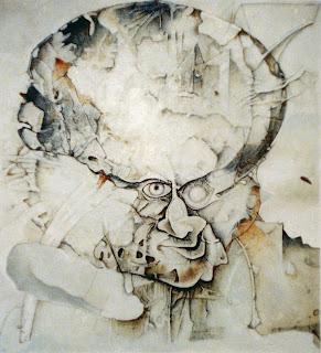 Waldemar Dąbrowski, Autoportret - olej, płótno, 61x61 cm