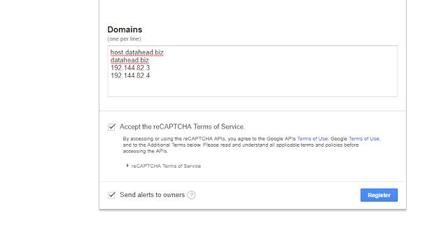 Google reCaptcha Form 1