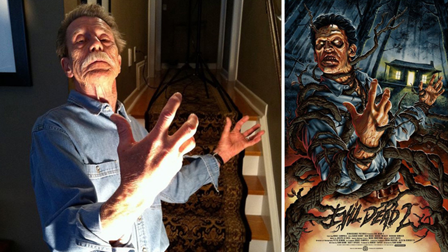 01-Bruce-Campbell-Evil-Dead-II-Jason-Edmiston-Painting-Classic-Vintage-Films-Posters-with-Dad-s-Help-www-designstack-co