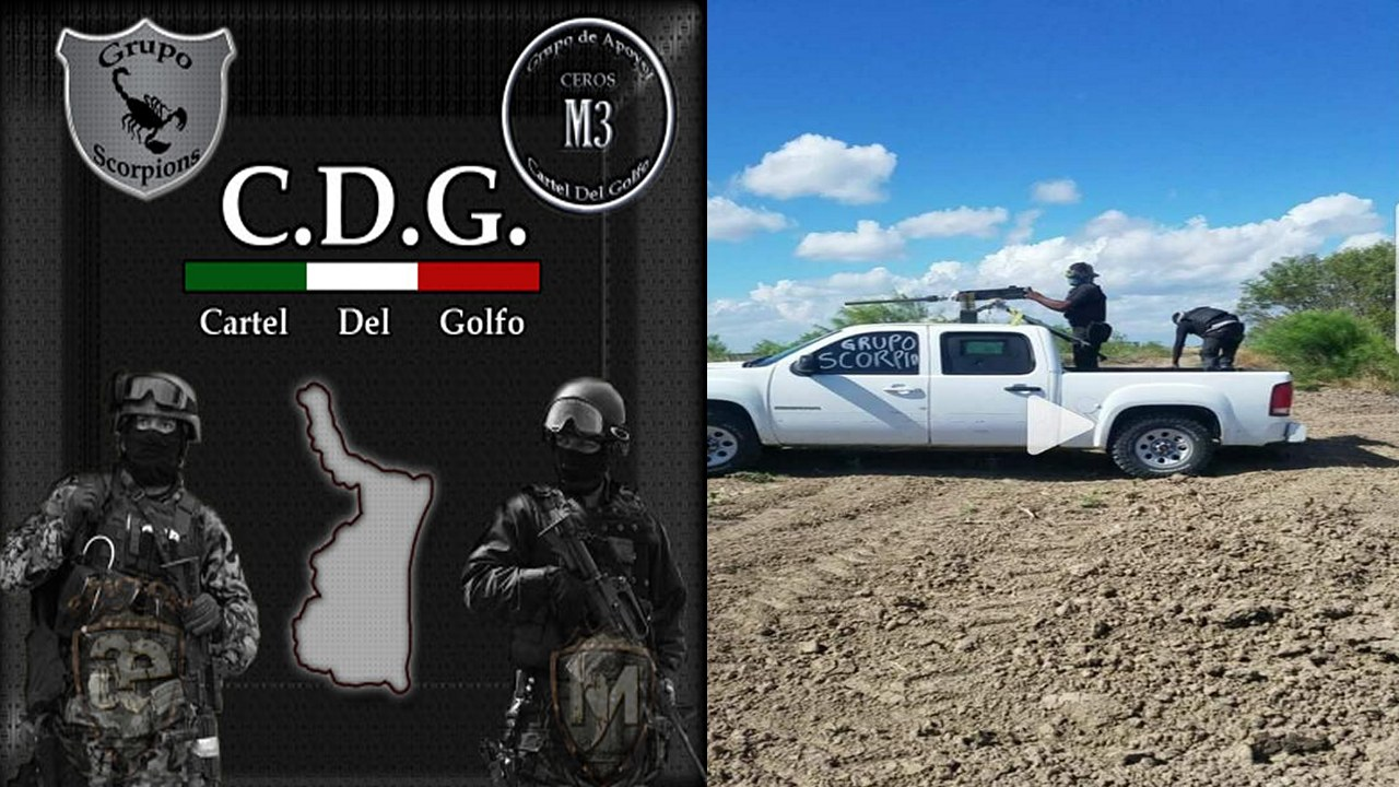 """Con vehículos blindados y artillados el """"Grupo Escorpiones"""" del CDG pelea por el control de la frontera en Reynosa y Río Bravo, Tamaulipas"""