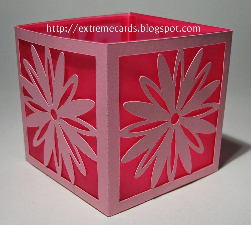 paper cut daisy lantern