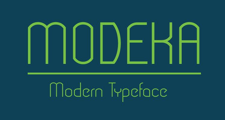 Modeka font free preview