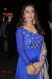 Telugu Actress Tejaswi Madivada Pos in Blue Long Dress at Nanna Nenu Na Boyfriends Audio Launch  0099.JPG