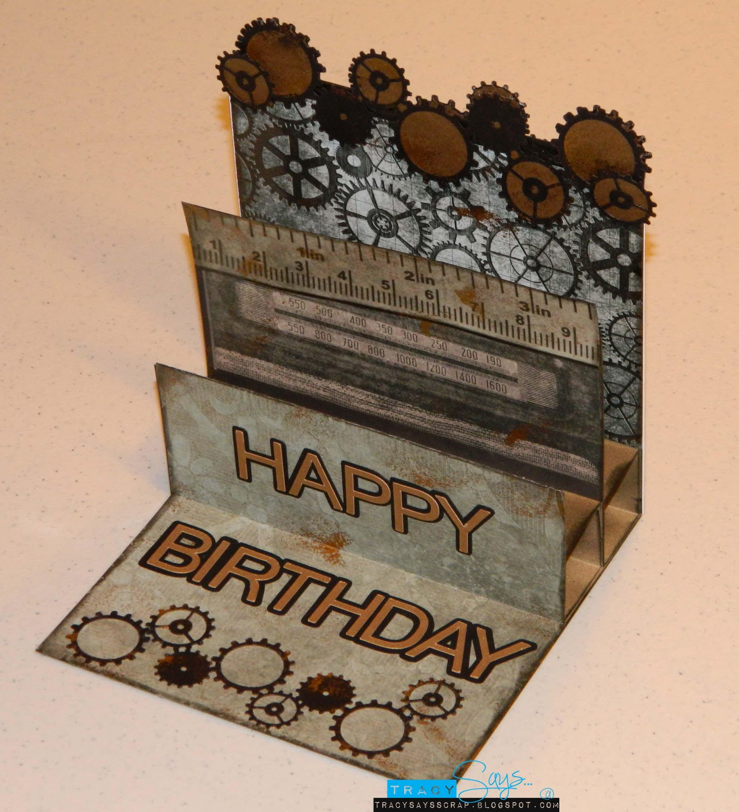 Tracy Says...: Gears...Male Birthday Card