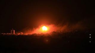 İsrail 5 Yere Saldırdı