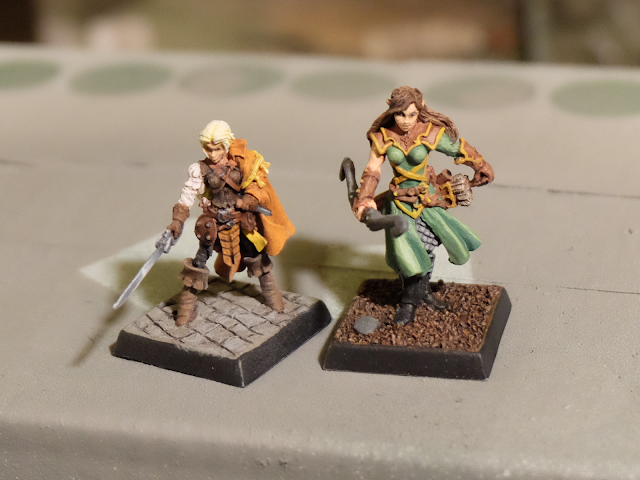 Rogue and Ranger miniatures painted with NMM