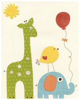 aplique giraffe and bird