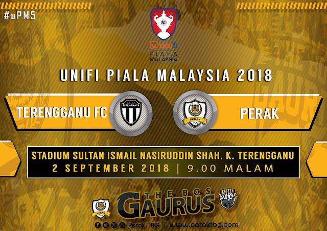 Live Streaming Terengganu vs Perak Piala Malaysia 2.9.2018