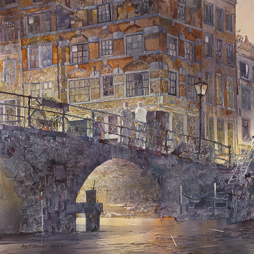 02-Amsterdam-Canal-John-Salminen-Watercolor-Paintings-Taking-Glimpses-into-our-Life-www-designstack-co