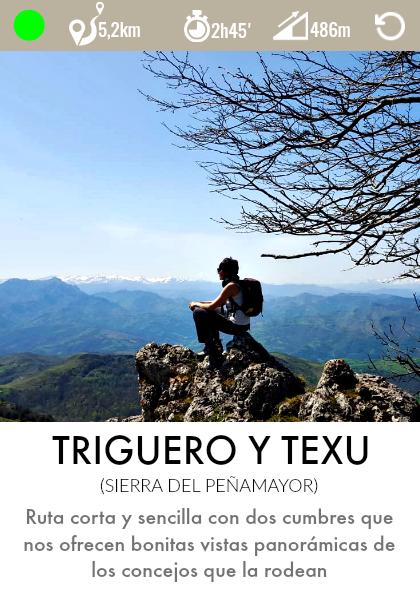 ruta pico triguero y pico texu en la sierra de peña mayor