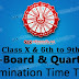 Odisha Govt. School 2018 Pre-Board 1 (10th) And Quarterly Exam (6th-9th) Time Table