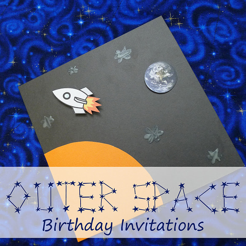Pieces By Polly Youre InvitedOuter Space Party Invitations Tutorial