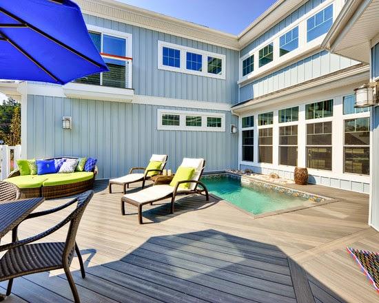 Hogares frescos 18 dise os de peque as pero hermosas piscinas - Piscinas en patios interiores ...