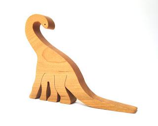 Wood Sauropod Toy