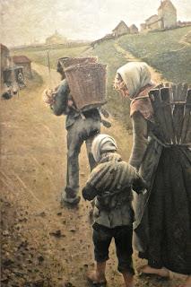 Bruxelles musée Fin du siècle : Léon fréderic : Les marchands de craie : le matin