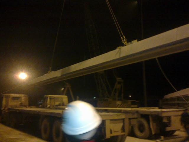 Vận chuyển cọc từ cảng Nghi Sơn