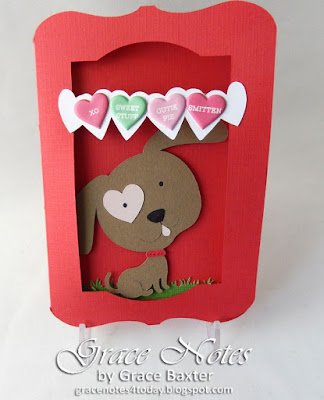 Doggone Sweet, boy's Valentine, designed by Grace Baxter