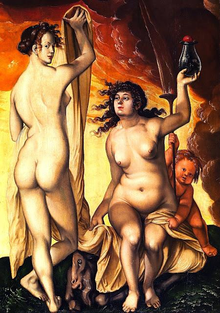 BALDUNG - Due streghe - nudi femminili - erotismo