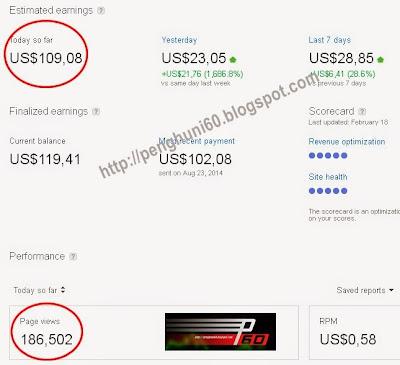 Dapat 100 Dollar Sehari dari Google Adsense