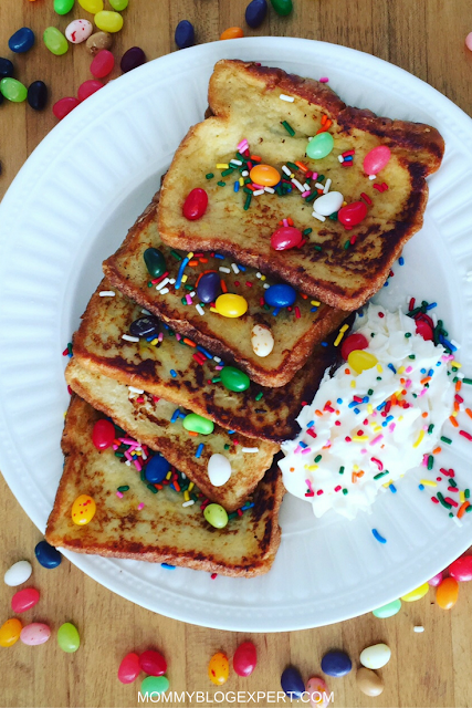 French Toast with Jelly Beans for Breakfast