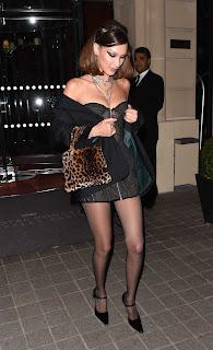 Bella Hadid Leaving the Royal Monceau el 7