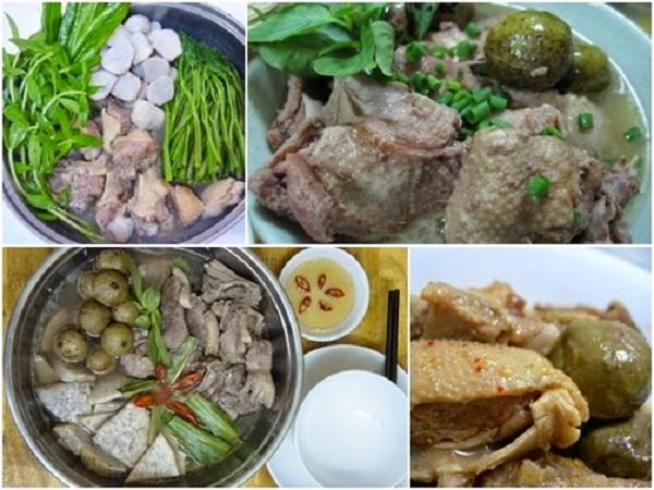 công thực nấu vịt om sấu