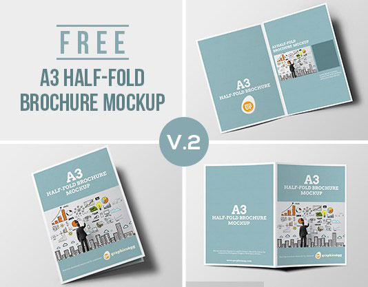 half fold brochure template free - 75 free brochure mockup templates for your designs