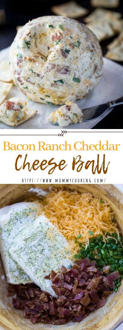 Bacon Ranch Cheddar Cheese Ball #cheeseball #partyrecipehealthy