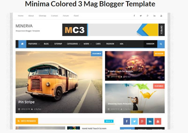 Minima Colored Blogger Templates