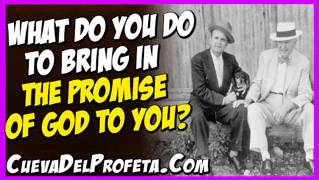 What do you do to bring in the promise of God to you - William Marrion Branham Quotes