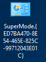 Windows 10 SuperMode