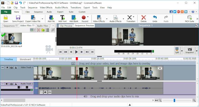 VideoPad Video Editor full version Terbaru  5.01 2017