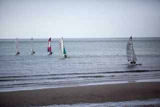 Catamarans on the water