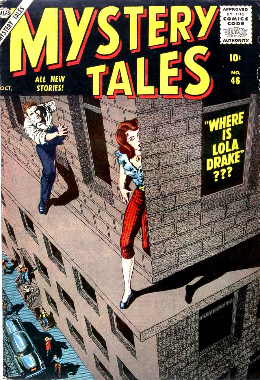 Mystery Tales #46 golden age 1950s atlas comic book cover art by Bill Everett