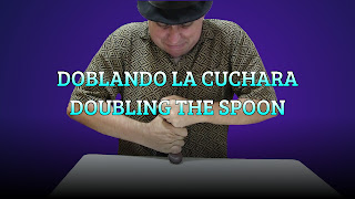 Doblando la cuchara grande, MAGIC TRICK, Doubling the big spoon