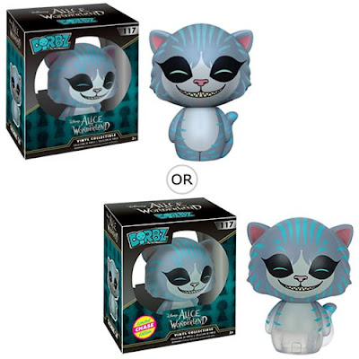 Disney's Alice in Wonderland Dorbz Vinyl Figures by Funko - Cheshire Cat & Chase Disappearing Cheshire Cat Variant