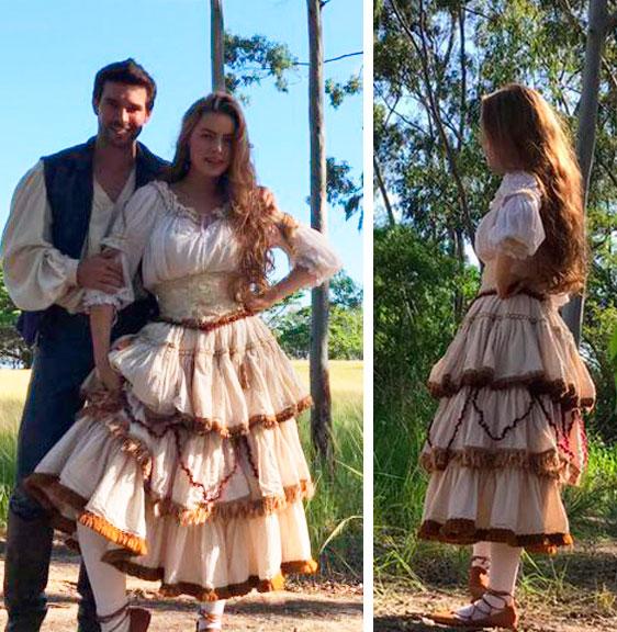 Vestido da Pietra (Rayane Moraes) em Belaventura