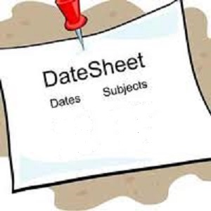 10th Class | 9th Class Date Sheets