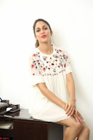 Lavanya Tripathi in Summer Style Spicy Short White Dress at her Interview  Exclusive 126.JPG