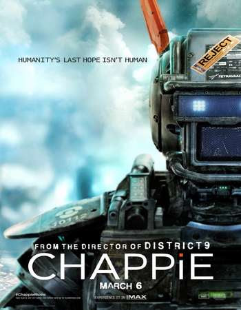 Poster Of Free Download Chappie 2015 300MB Full Movie Hindi Dubbed 720P Bluray HD HEVC Small Size Pc Movie Only At worldfree4u.com
