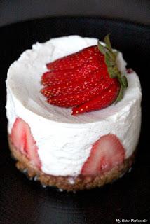 Cheesecake fraises vanille spéculoos